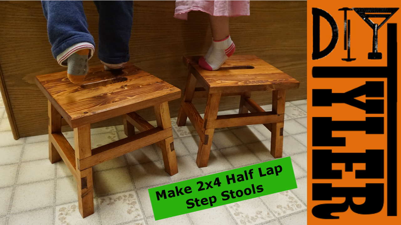 2x4 half lap step stools diytyler for 2x4 stool plans