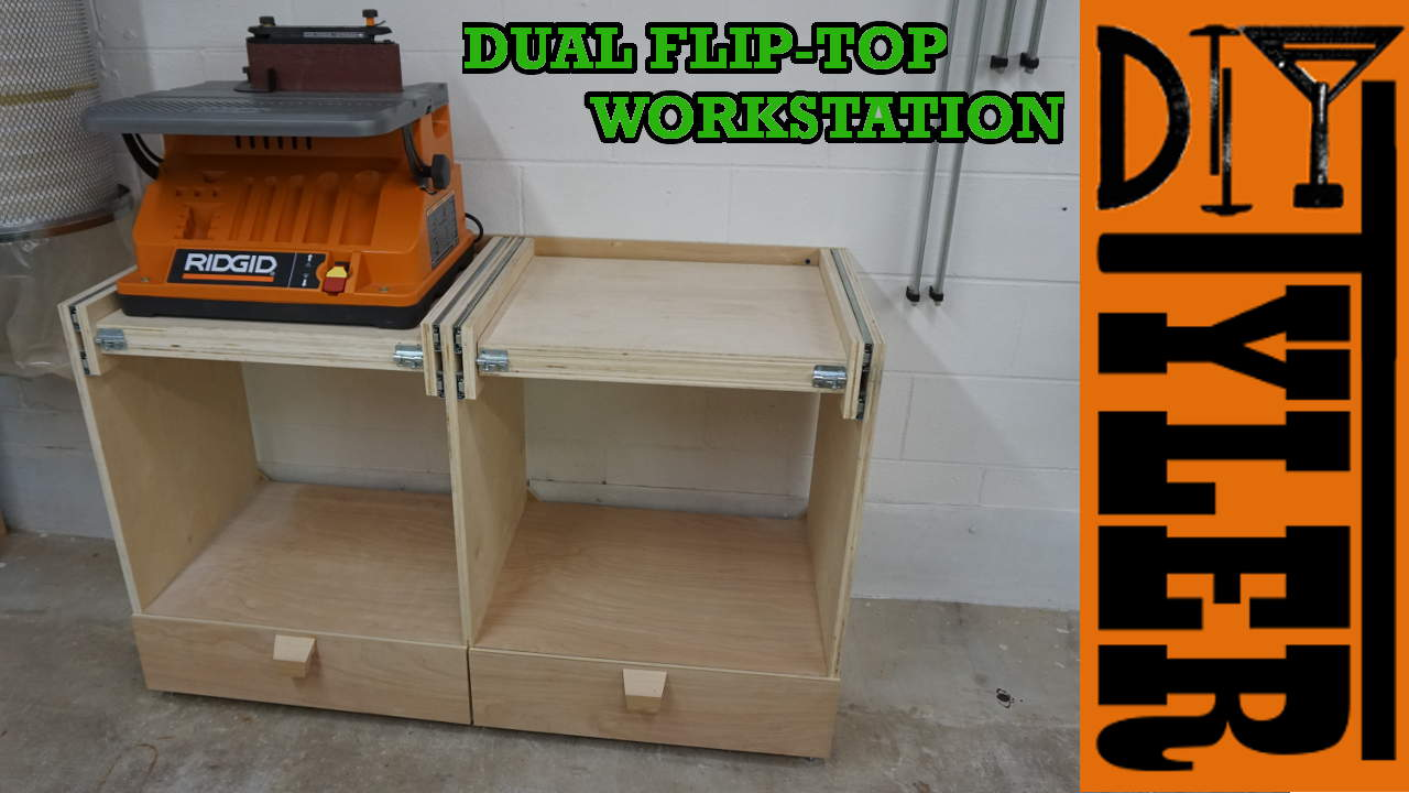 Double Flip-Top Workstation - DIYTyler