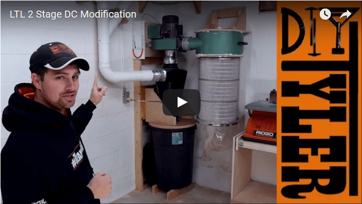 2 Stage Harbor Freight Dust Collector Hack Diytyler