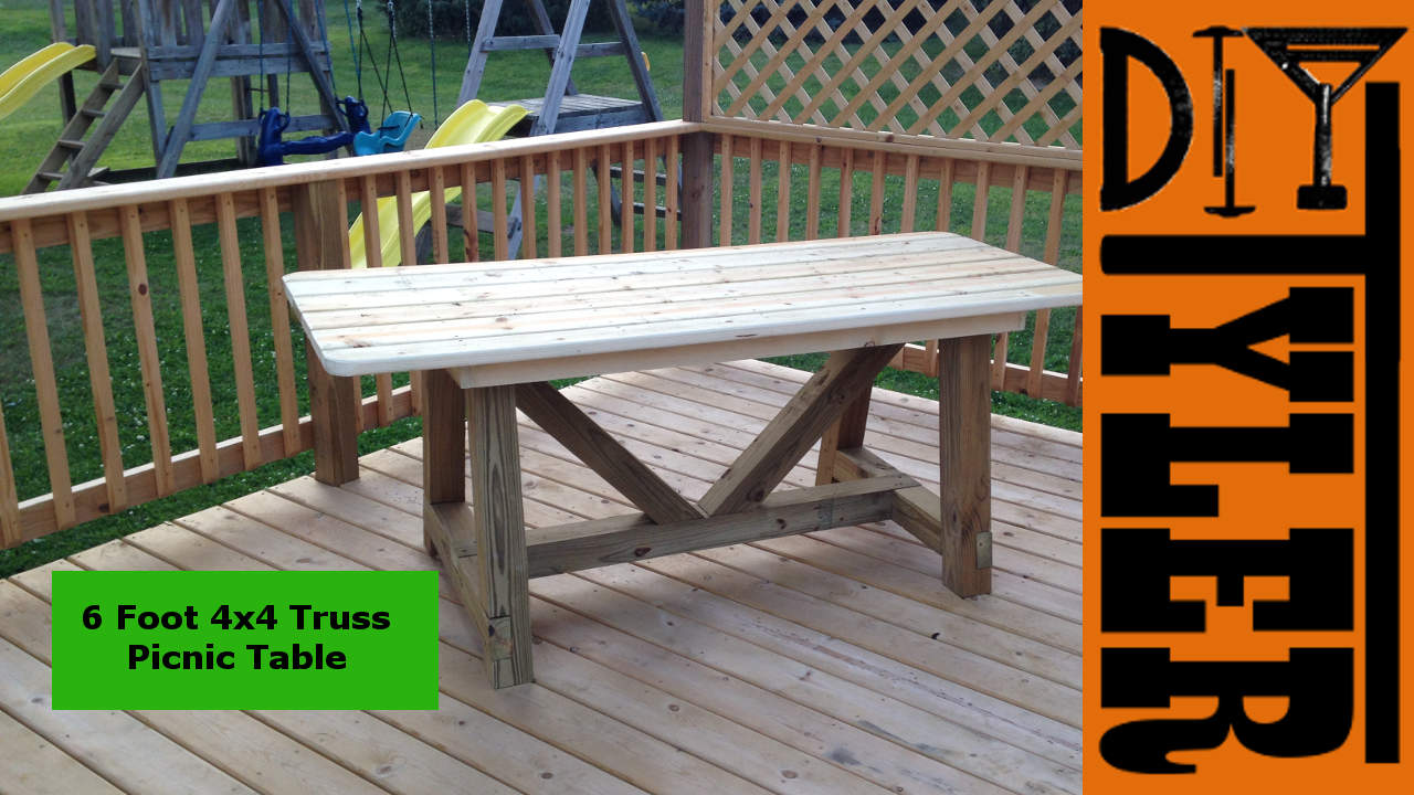 6ft 4x4 Truss Picnic Table Diytyler