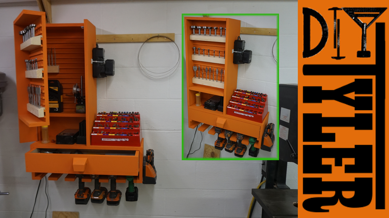French Cleat Drill Bit Drill Charging Station Diytyler