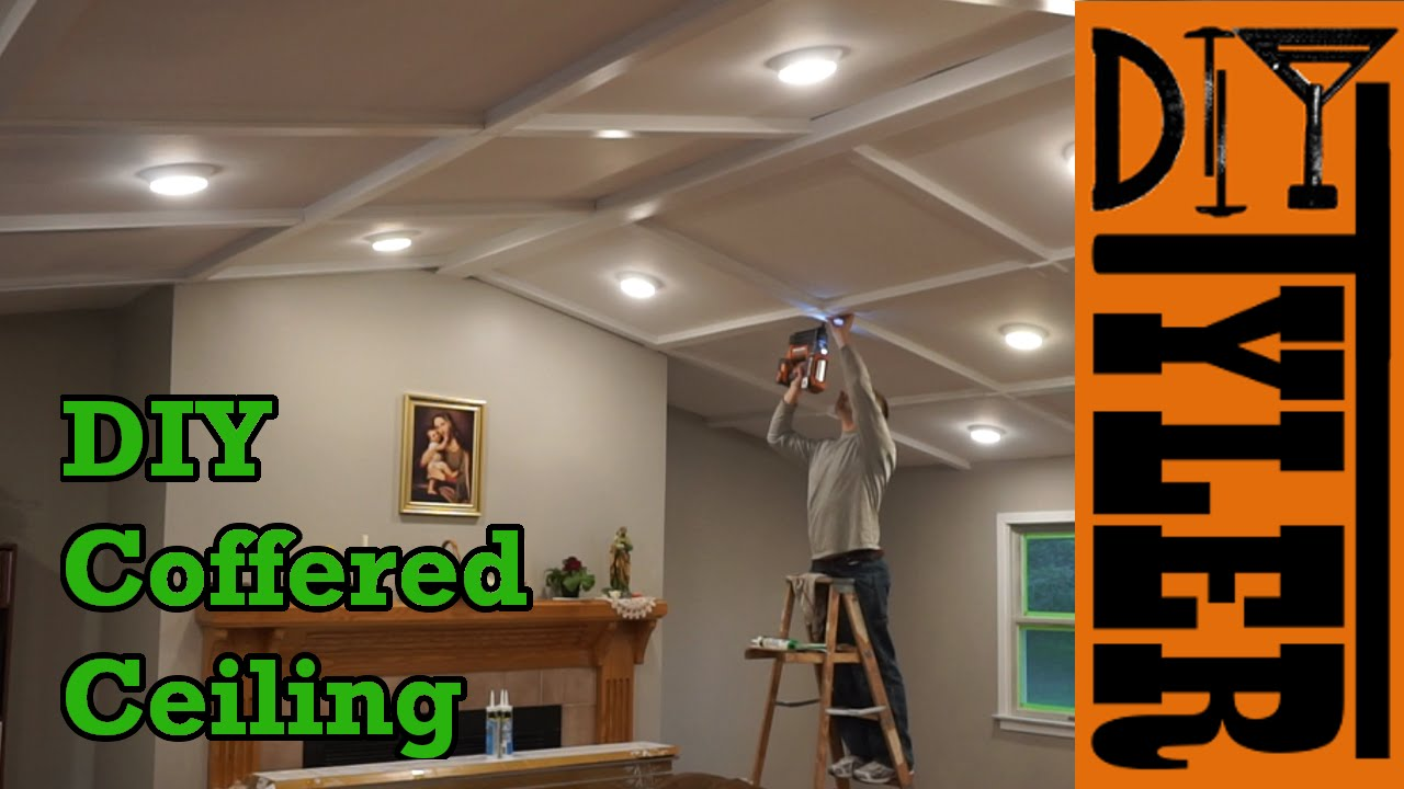 Diy Coffered Ceiling Build Diytyler