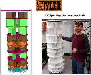 Mega Rotating Shoe Rack Diytyler
