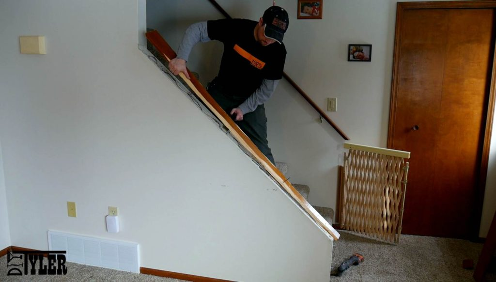Build A Stair Railing For A Half Wall Diytyler
